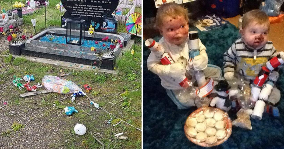 brothers4.png - Mother Torn After Thugs Vandalized Grave Of Two Little Brothers Who Passed Away From A Rare Illness