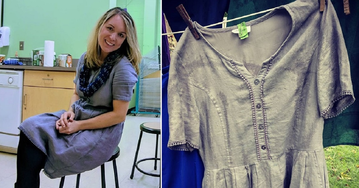 f4.jpg - A Teacher Wore The Same Dress For 100 Days In A Row To Make A Statement Against Consumerism