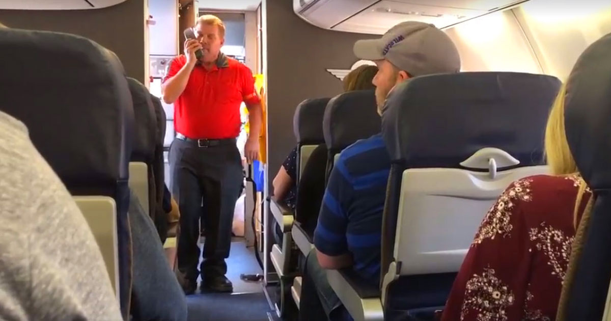 flight fallen soldier mother.jpg - Southwest Airlines Flight Attendant Honored The Mother Of Fallen State Trooper By Singing 'You Raise Me Up'