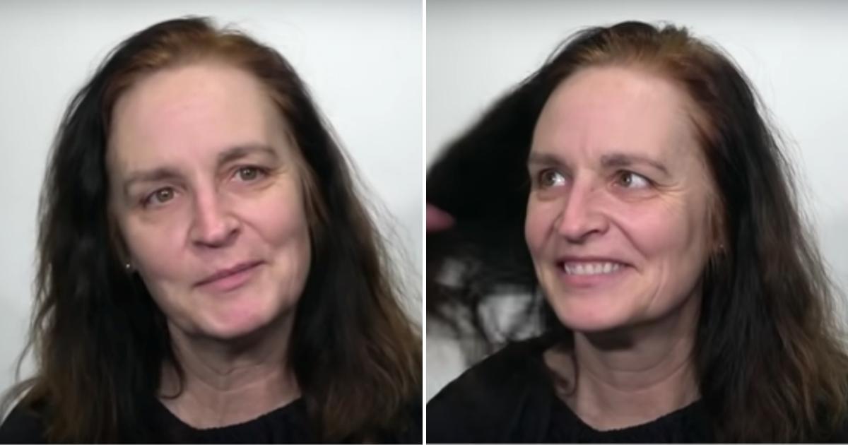 mary6.png - Une femme veut surprendre son mari, elle change de coiffure pour une coupe courte élégante et un jolie maquillage qui la rend superbe