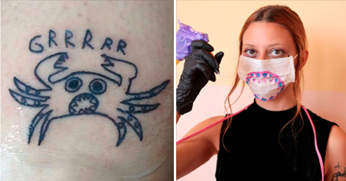 tattoo bad.jpg - Tattoo Artist Is Bad At Drawing But That Is Exactly Why Her Clients Love Her Work