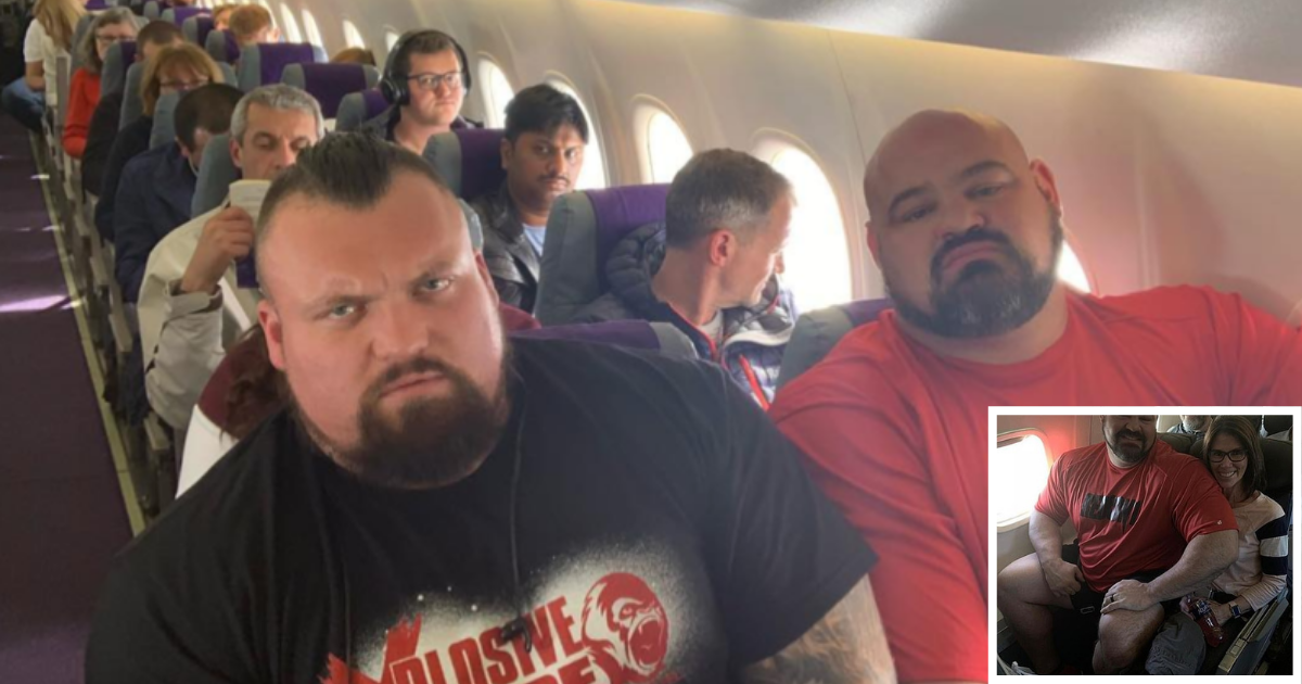 y1 11.png - Two Strongest Men In The World Were Squeezed Next To Each Other In Economy Class Flight