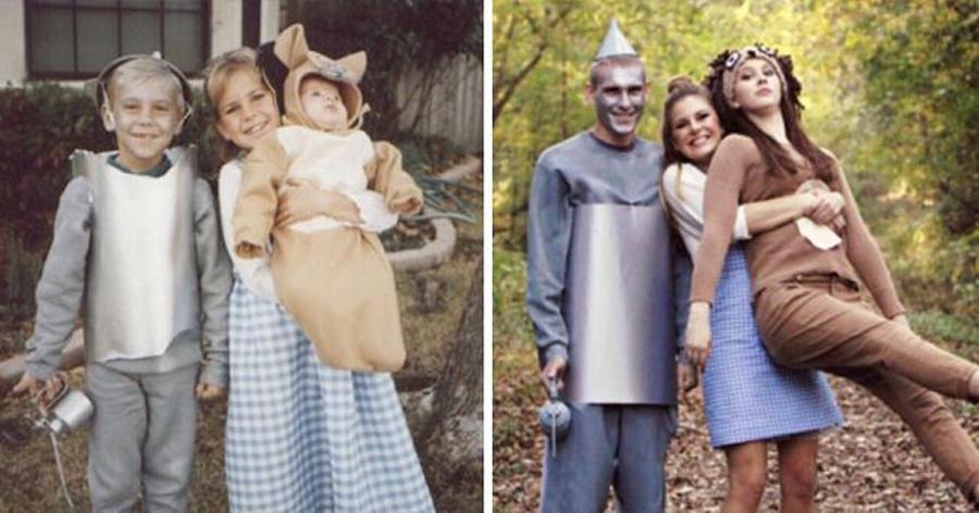 4.jpg - 23 Fotos de família que foram recriadas de forma emocionante e criativa