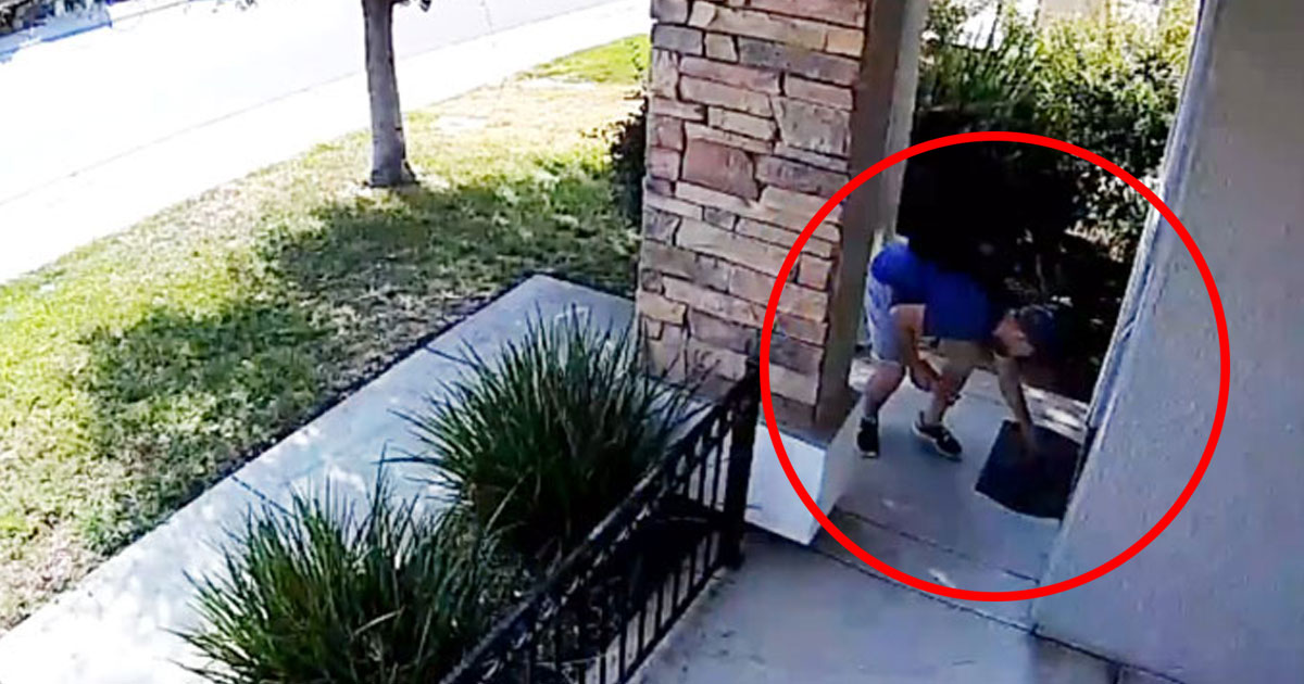 boy woman wallet.jpg - A Woman Ignored When Someone Knocked On The Door - Later She Saw The Security Camera Footage And Was Left Speechless