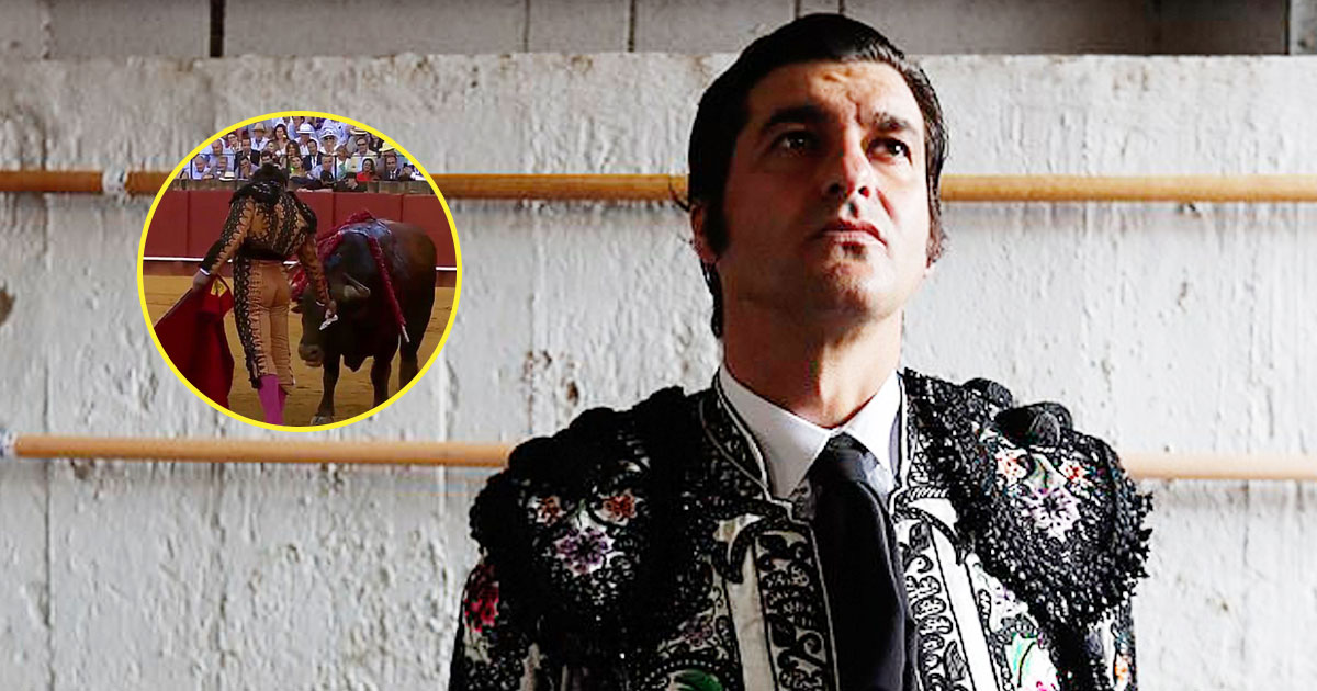 bull fighting.jpg - Video Of A Spanish Matador Wiping Away Blood From A Bull's Face Slammed Online