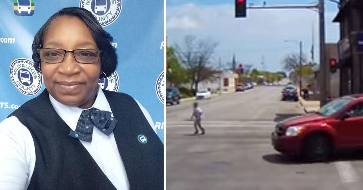 bus driver saves boy.jpg - Female Bus Driver Risked Her Own Life To Save A Boy With Autism At A Busy Intersection