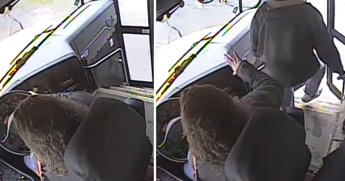 bus driver saves student.jpg - Vigilant Bus Driver Saved Student's Life By Pulling Him Back When He Was Leaving The Bus