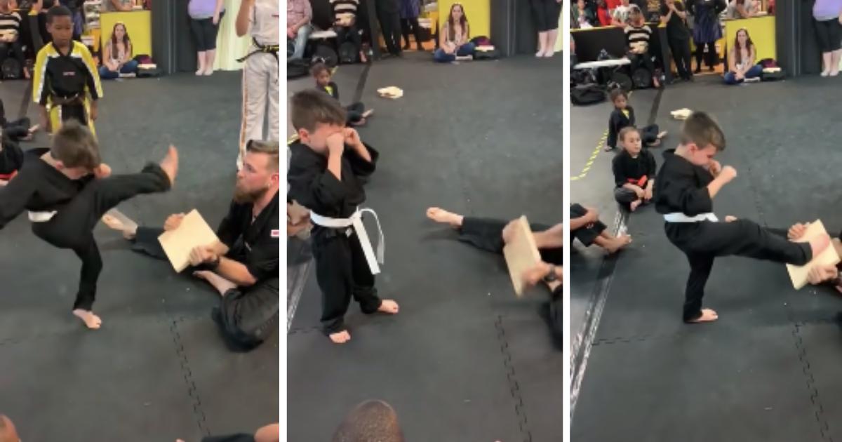 d6 1.png - Ce petit garçon en pleurs réussit finalement son exercice d'arts martiaux grâce au soutien indéfectible de ses camarades