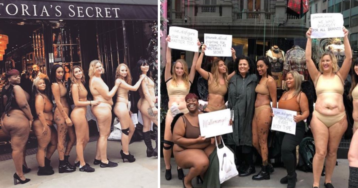 featured image 25.png - Protesters Stripped Down To Underwear Outside Victoria's Secret Store In London