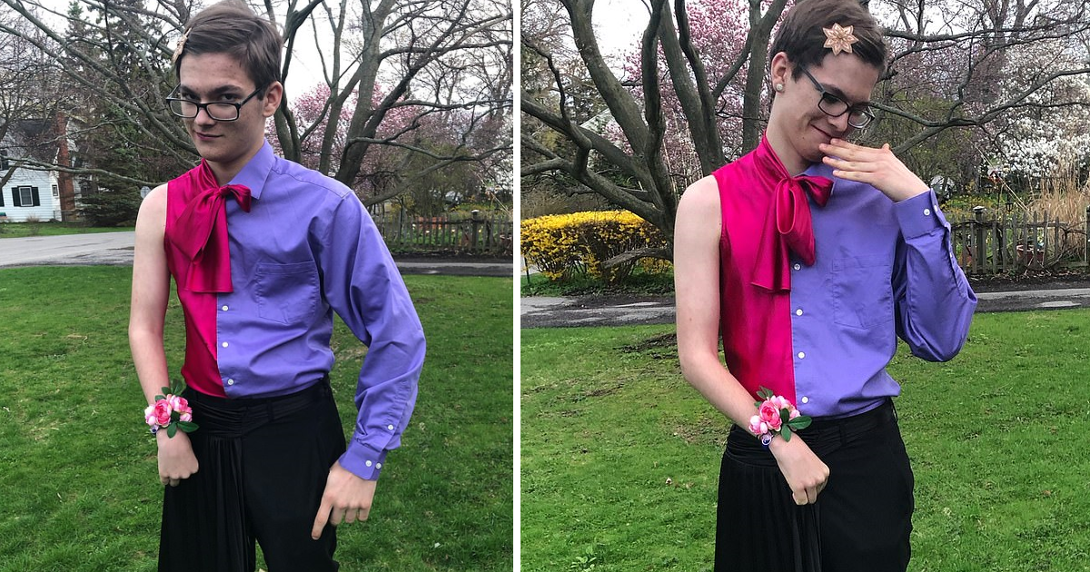 featured image 7.png - Dateless 16-Year-Old Took HIMSELF To School Prom Wearing Half-Suit Half-Dress