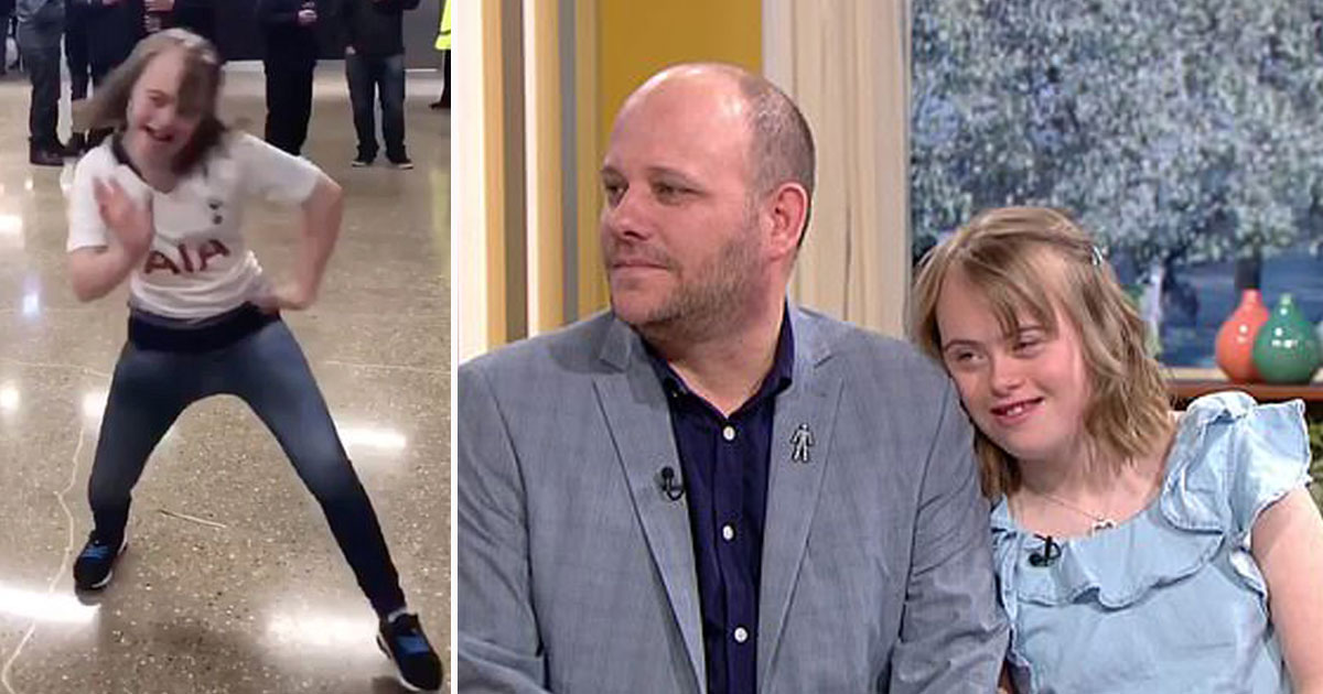 girl trolled this morning.jpg - Girl With Down's Syndrome, Who Was Trolled For A Dancing Video, Appeared On This Morning With Her Father Who Slammed Trolls