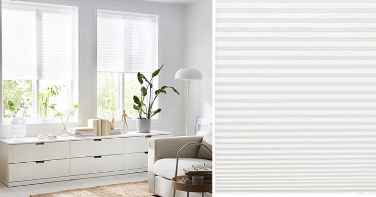 ikea vend des stores pliss s pour 3 pouvant s 39 adapter. Black Bedroom Furniture Sets. Home Design Ideas
