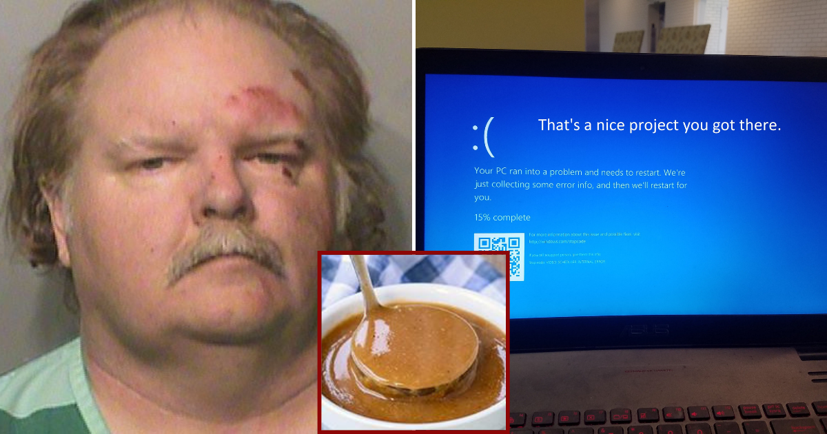 laptop.png - Man Spilled Gravy On His Laptop Keyboard, Took It To Store And Suddenly Got Arrested