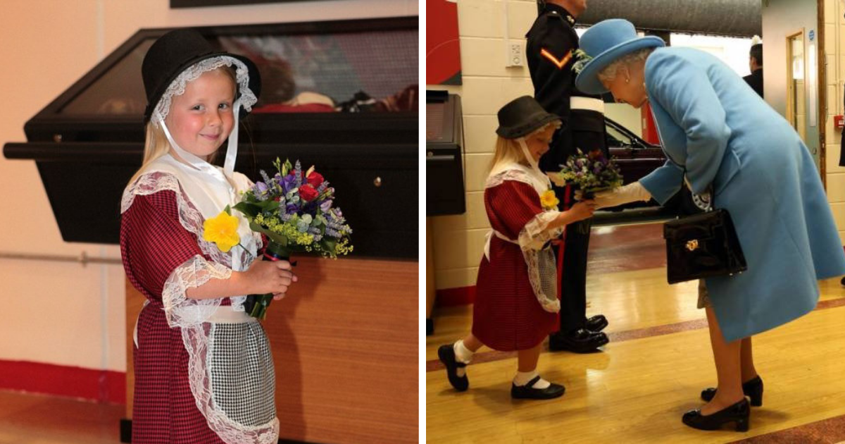 maisie5.png - Little Girl Got Whacked By A Royal Guard After Greeting Queen With Curtsy