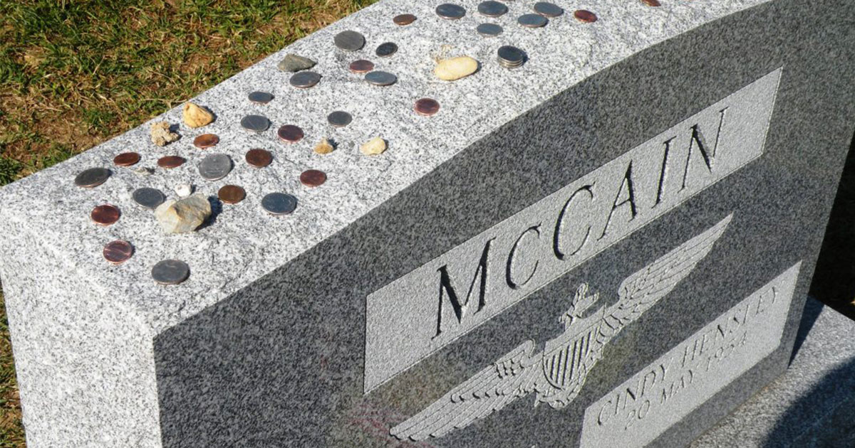 the meaning behind coins lying on military tombstones.jpg - The Special Reason Why There Were Coins On Military Tombstones