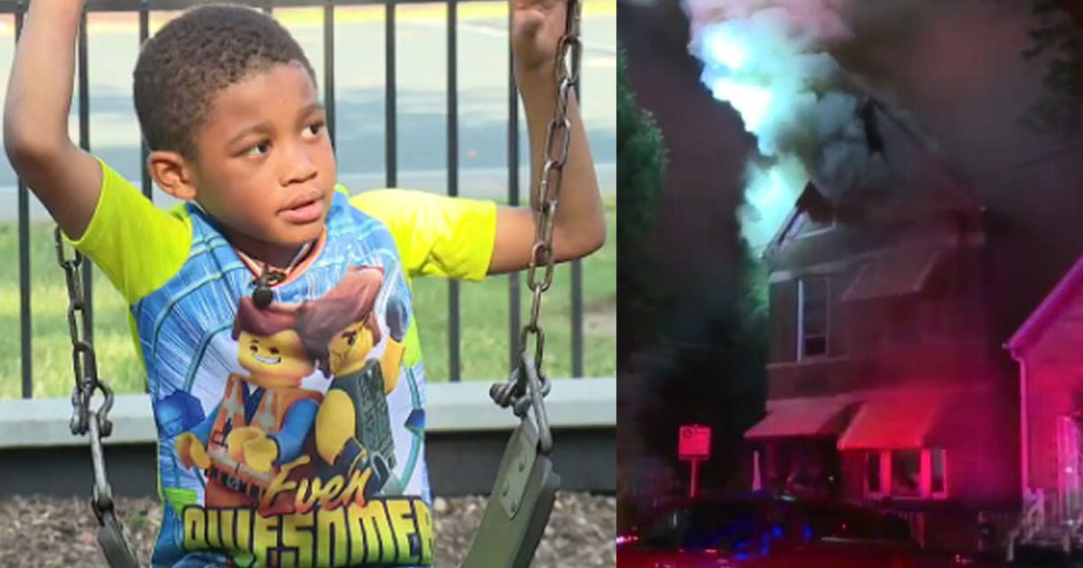 a 5 year old boy warned people to get out of burning home and saved lives of 13 people.jpg - Un garçon de 5 ans a sauvé 13 personnes d'une maison en feu