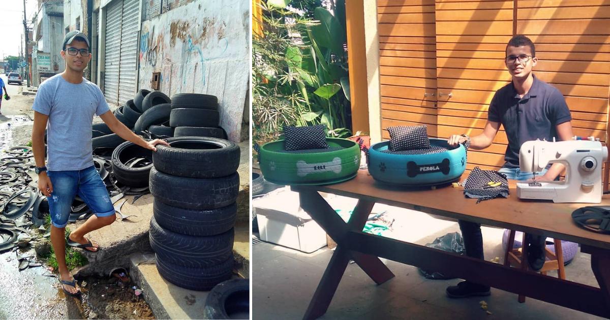 d1 21.png - De vieux pneus ont été transformés en lits pour les animaux de la rue