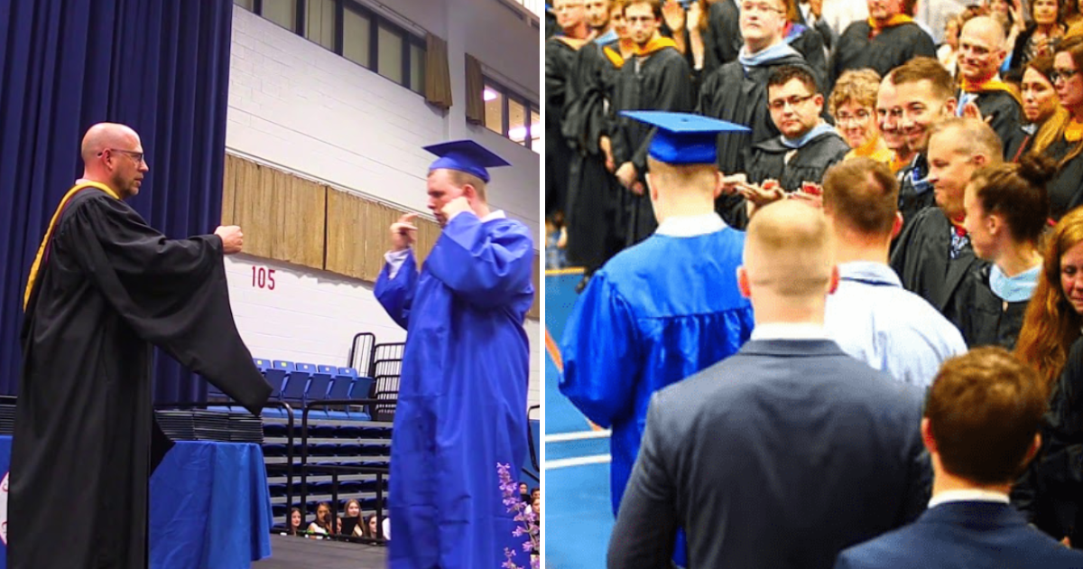 featured image 37.png - Students Gave A Silent Standing Ovation To An Autistic Classmate Who Is Sensitive To Loud Noise During Graduation