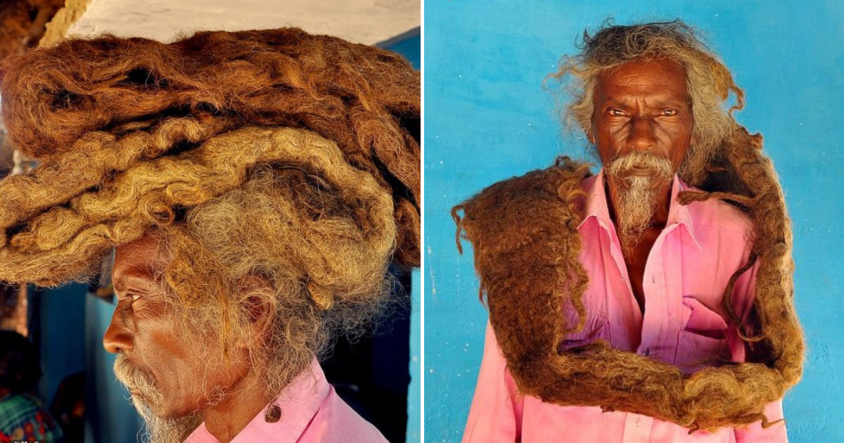 hair5.png - Man Hasn't Washed Or Cut His 6-Foot Dreadlocks In 40 YEARS, Calling His Hair A Real 'Blessing'