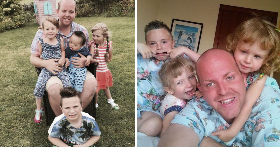 """a1 19.jpg - Ele ganhou o título de """"super pai"""" após adotar quatro crianças com deficiência"""