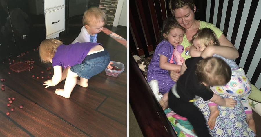 a6 17.jpg - Essa mãe está chamando a atenção de todos com as fotos dela cuidando dos 3 filhos