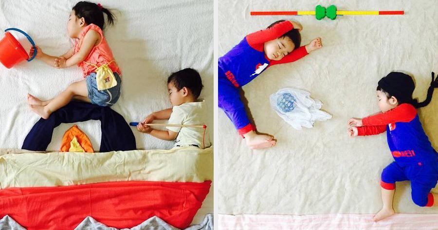 a6 18.jpg - Mãe usa a criatividade e cria aventuras para seus filhos gêmeos enquanto eles dormem