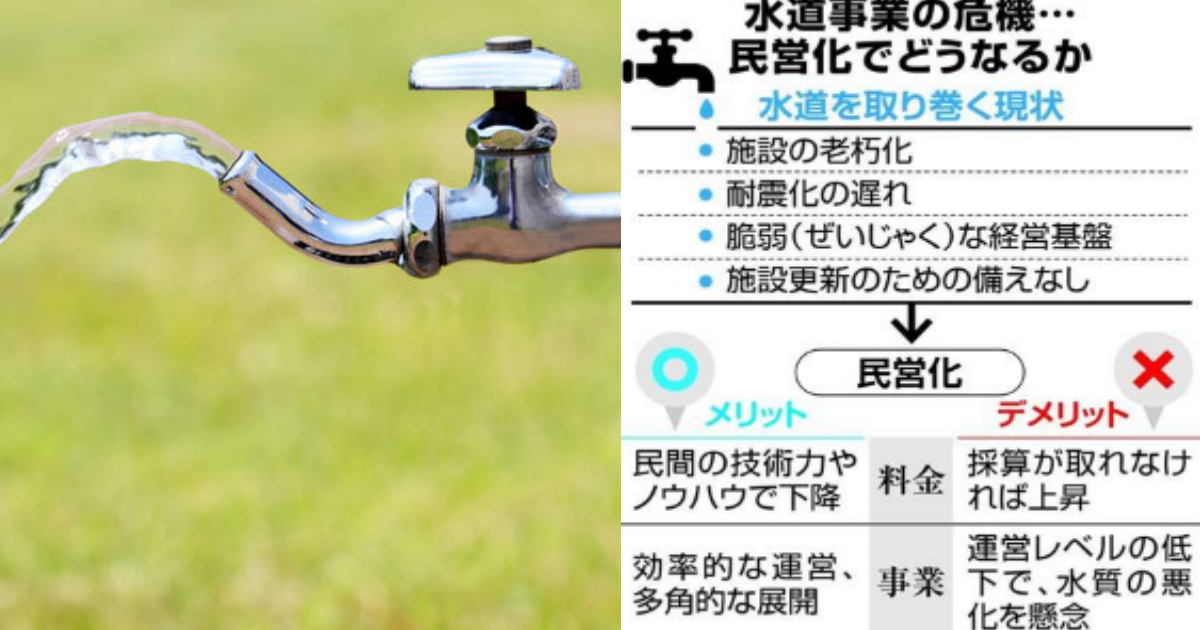 suidou.png - 水道民営化に反対の声多数?2ヶ月後には水道料金が3倍以上にはね上がる可能性も!?