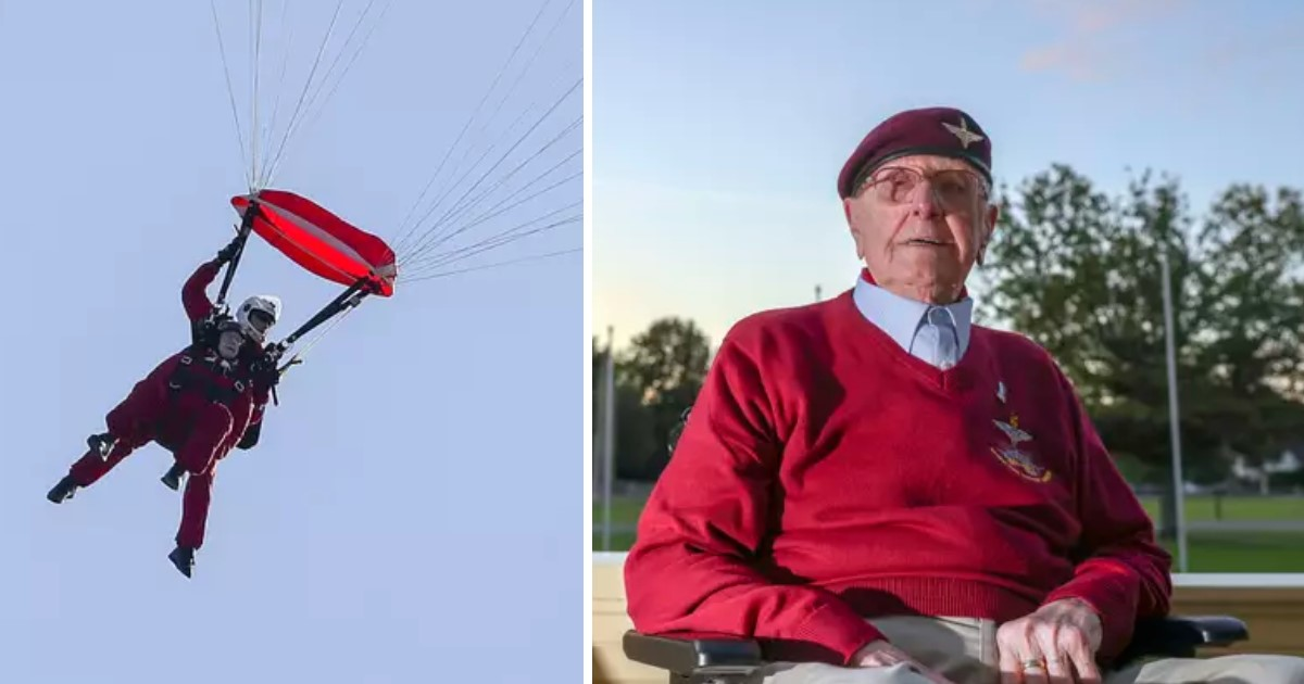a 97.jpg - 97 Year Old WWII Veteran Participated In The Mass Parachuting Event To Mark The 75th Anniversary