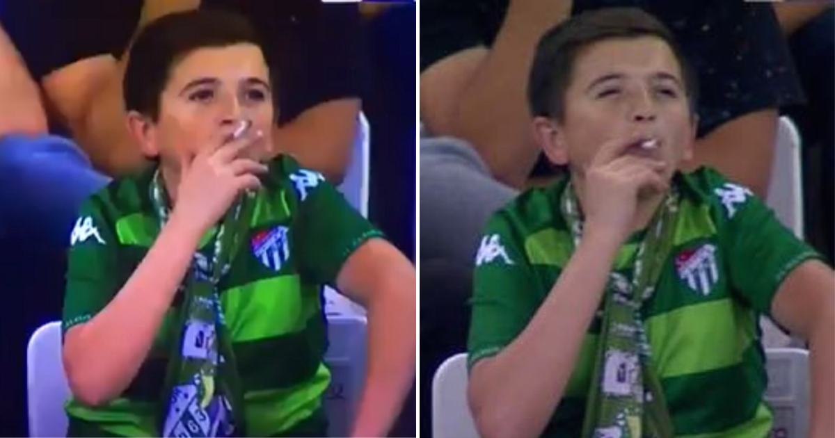 boy4.png - 'Boy' Pictured Smoking At Football Match Was Actually A Father Enjoying The Game With His Son