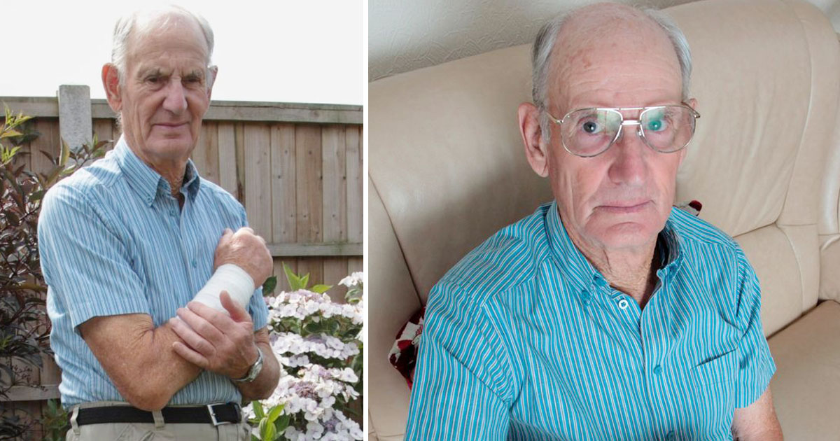 elderly attacked by dog.jpg - Elderly Man Abandoned By The Owner Of The Dog Who Bit Him