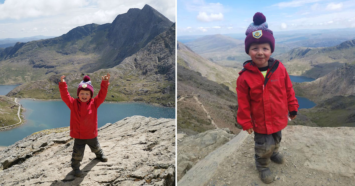 toddler three peaks.jpg - Three-Year-Old Climbed Three Peaks For His Best Friend Who Died When He Was Just Two