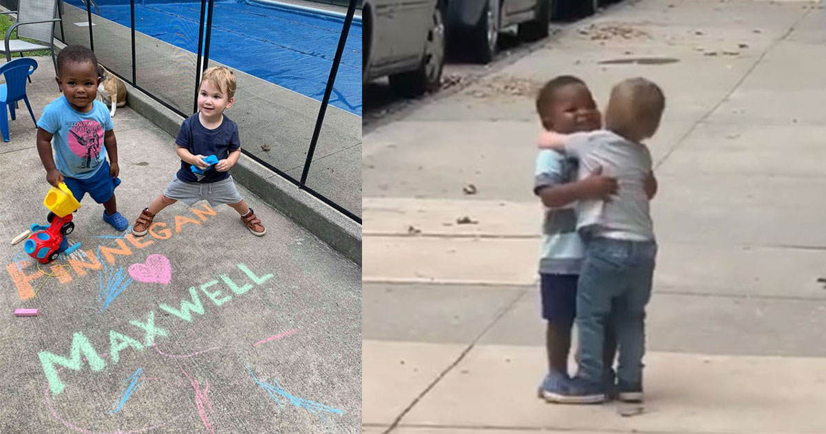untitled 1 63.jpg - Dad Captured Heartwarming Moment Of Toddler Best Friends Hugging Each Other As If They Haven't Seen Each Other In Years