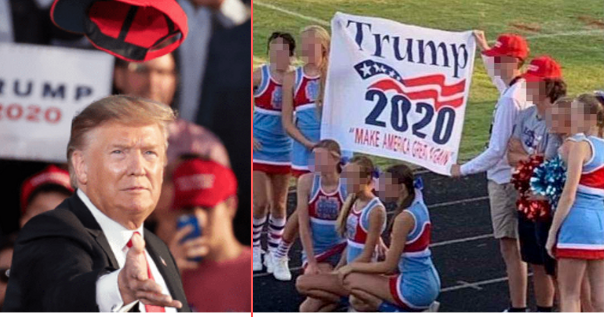 y5 11.png - Cheerleaders Put on Probation for Posing With Trump 2020 Banner