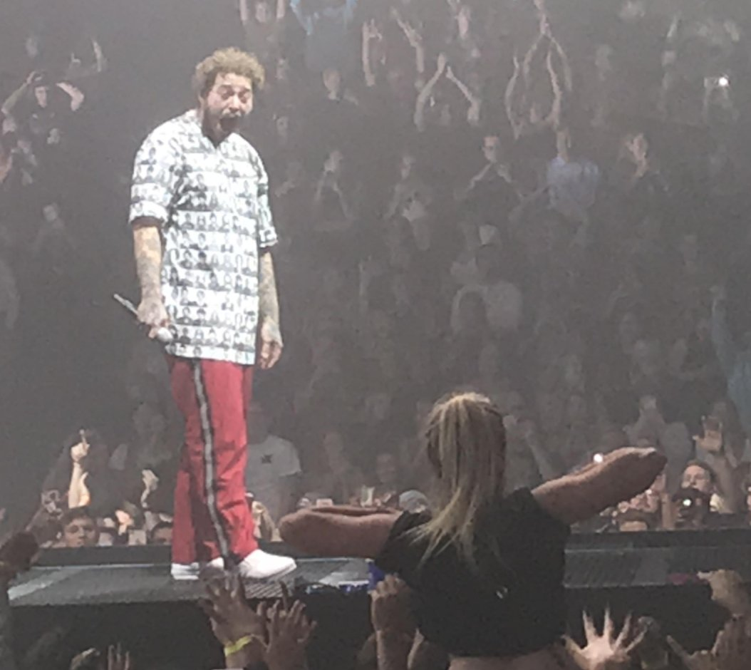 Post Malone Showered The Crowd With $50,000 During His