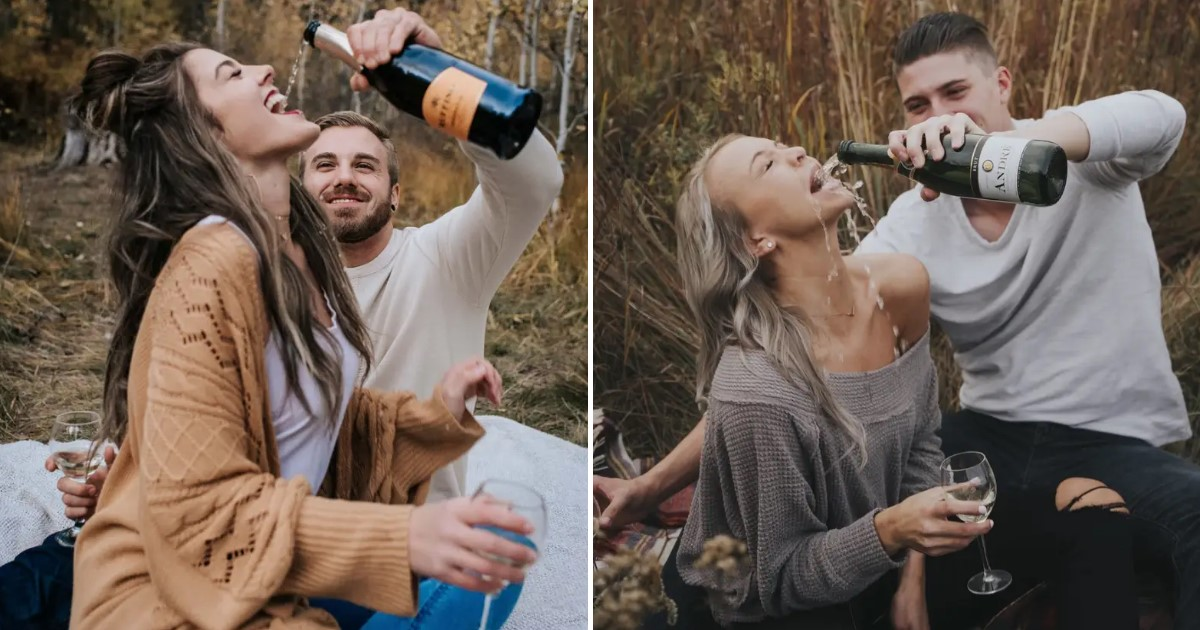a 81.jpg - Couple's Champagne Engagement Photos Went Viral After Failing Horribly