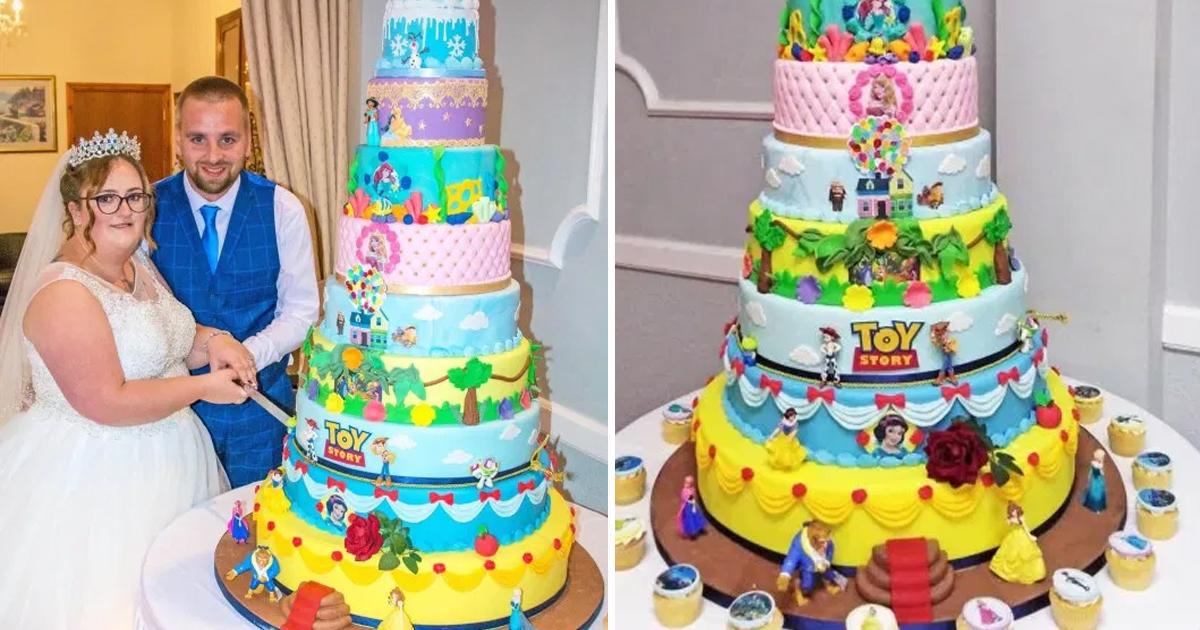 dsdgsdg.jpg - Ce couple a fait faire un gâteau sur le thème de Disney composé de 10 niveaux pour son mariage