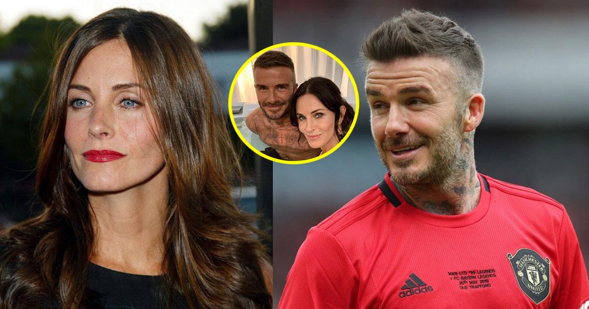 fans posted cheeky comments for courteney placing her hand on beckhams knee in a selfie.jpg - Les fans ont taquiné Courteney Cox pour avoir posé sa main sur le genou de David Beckham dans un selfie