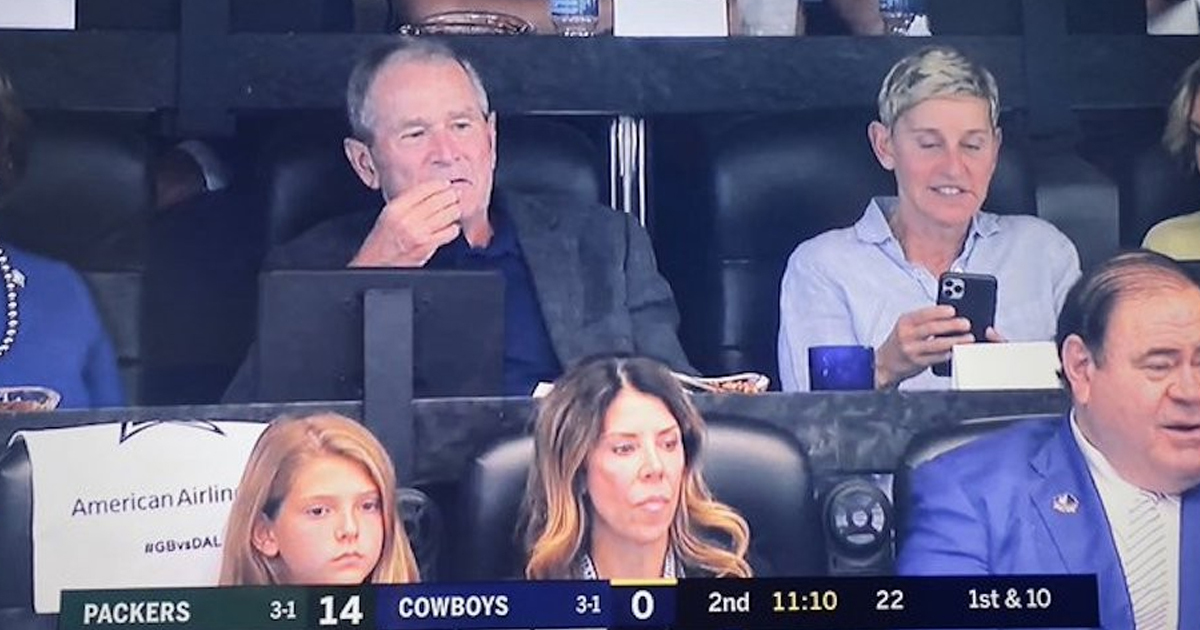 img 5d9fa7b927281.png - George Bush And Ellen DeGeneres Sat Together At A Cowboys Game In Dallas