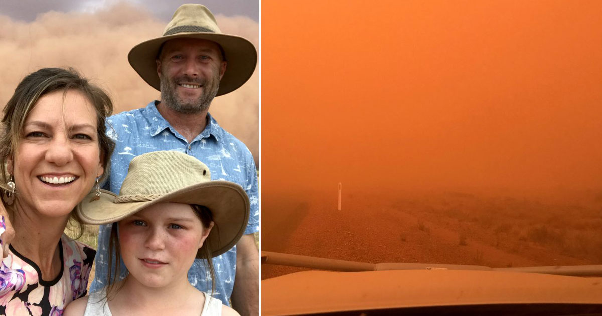 orange sand storm.jpg - Family Witnessed An Incredible Orange Sand Storm