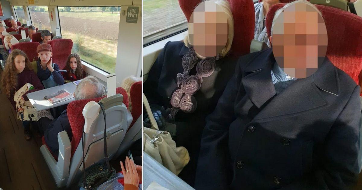 s6.jpg - Mère enceinte avec 3 enfants : Un couple était sur leurs sièges de train, ils ont refusé de bouger
