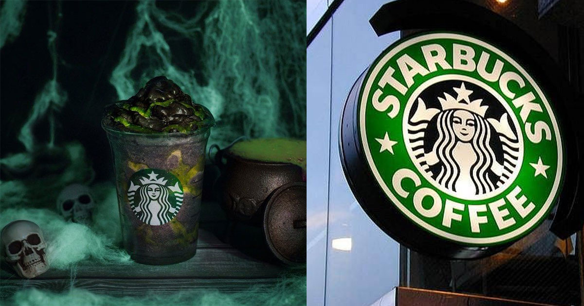 starbucks launched a phantom frappuccino made with black charcoal powder.jpg - Starbucks Launched A 'Phantom Frappuccino' To Celebrate Halloween