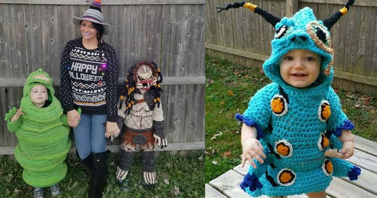 this woman crochets amazing full body halloween costumes for her kids.jpg - This Woman Crocheted Amazing Full Body Halloween Costumes For Her Kids