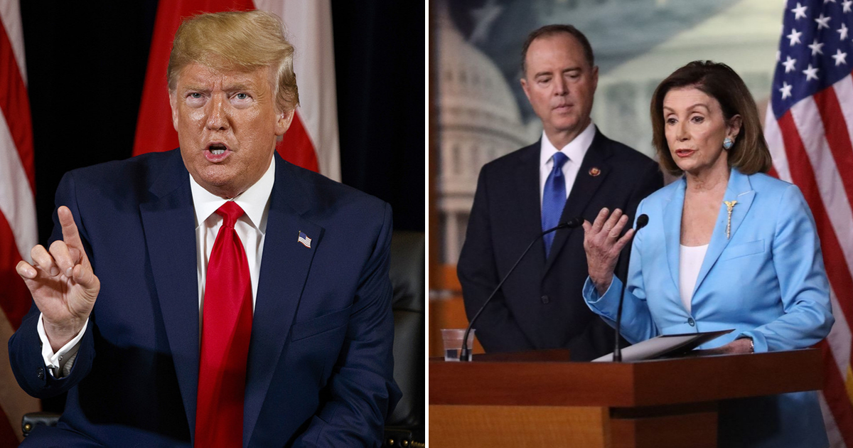 trump2.png - President Trump Calls For Nancy Pelosi And Adam Schiff To Be IMPEACHED