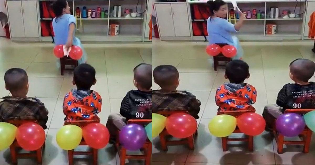 untitled 1 74.jpg - Une enseignante a utilisé des ballons pour enseigner à ses élèves comment s'essuyer correctement aux toilettes