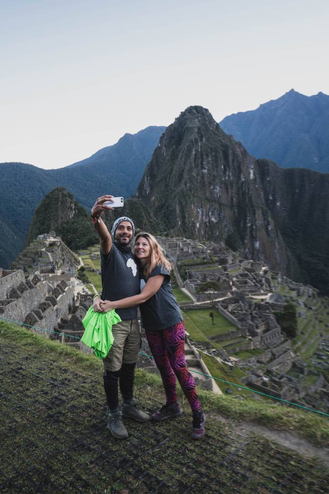 One of their highlights was visiting Machu Picchu. Credit: SWNS