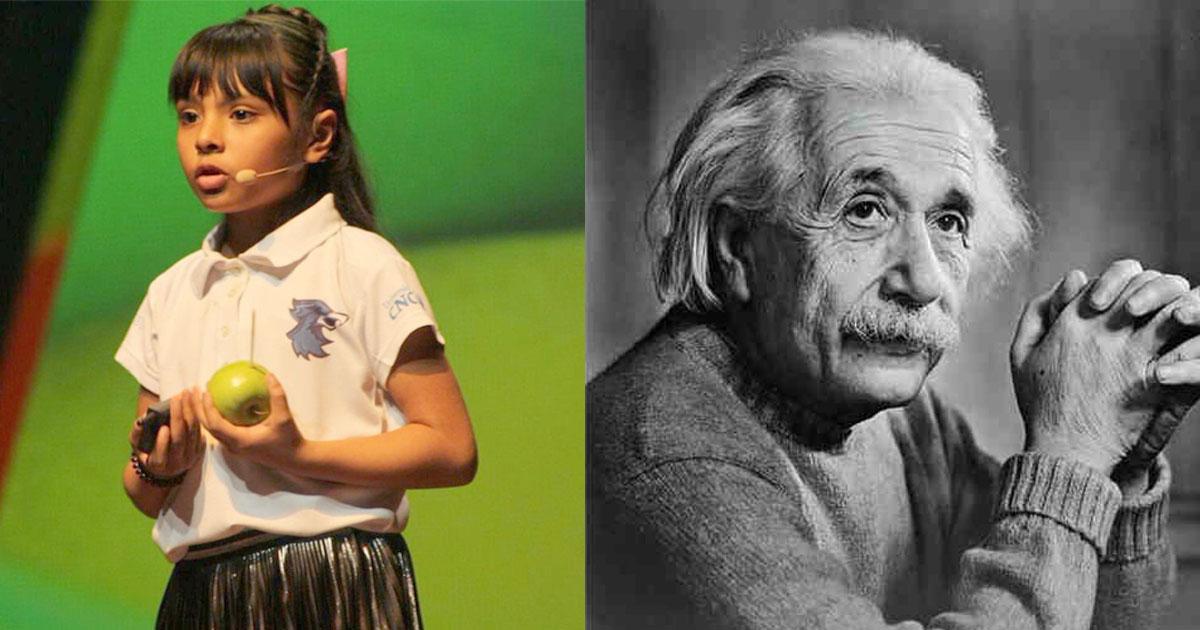 8 year old girl bullied and tagged weird at school has higher iq than einstein.jpg - Une fille de 8 ans a un QI plus élevé que celui d'Albert Einstein et de Stephen Hawking
