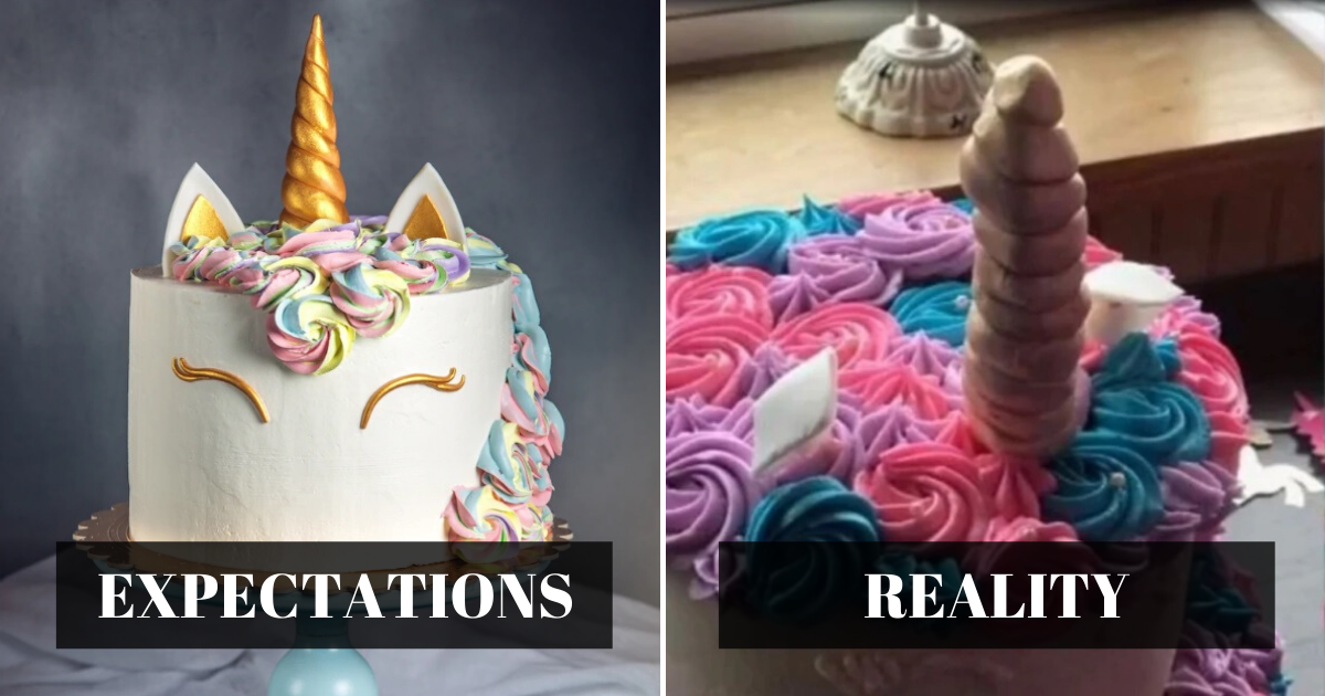 expectations 1.png - Mother Slammed Bakery For Charging Her $370 For 'Embarrassing' Unicorn Cake