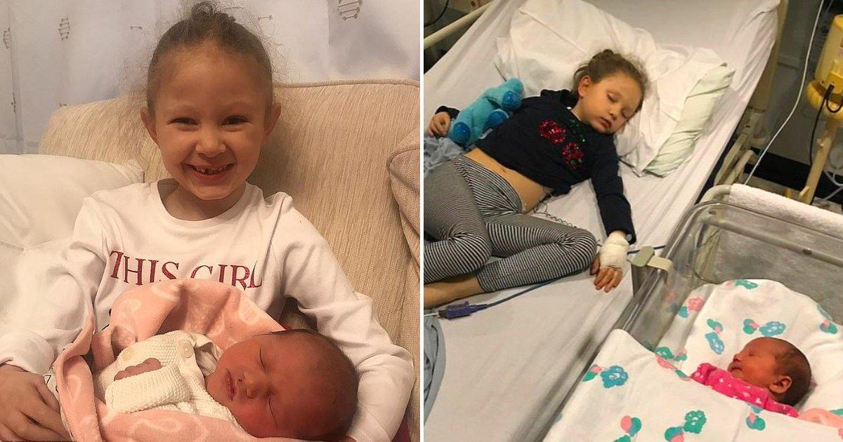 1 34.jpg - Niña De 6 Años Conoció A Su Hermanita Recién Nacido Solo Cinco Días Antes De Fallecer