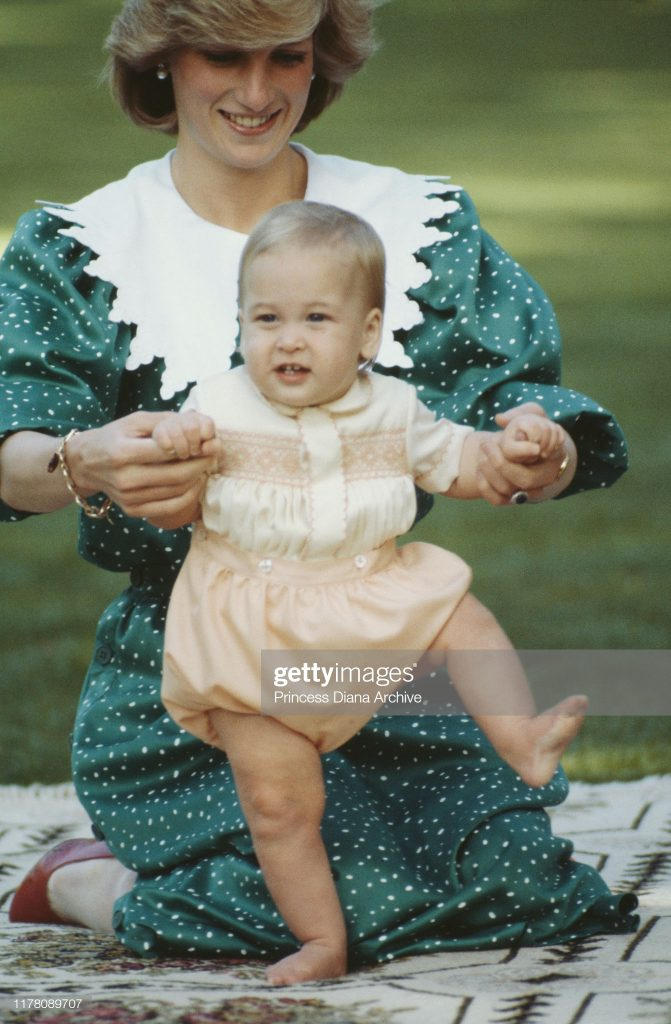 Diana And William In Auckland : News Photo