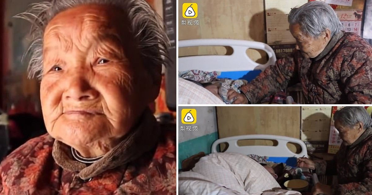 a 98.jpg - 84-Year-Old Mother Had Been Taking Care Of Her Son For 50 Years, Ever Since He Was Paralyzed As An Infant